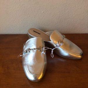 Merona silver mules 7.5 NWOT